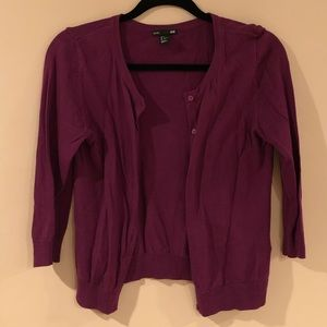 Burgundy H&M cardigan sweater